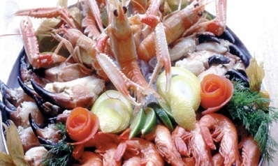 Chargrilled Dublin bay prawns with langoustines and crab claws