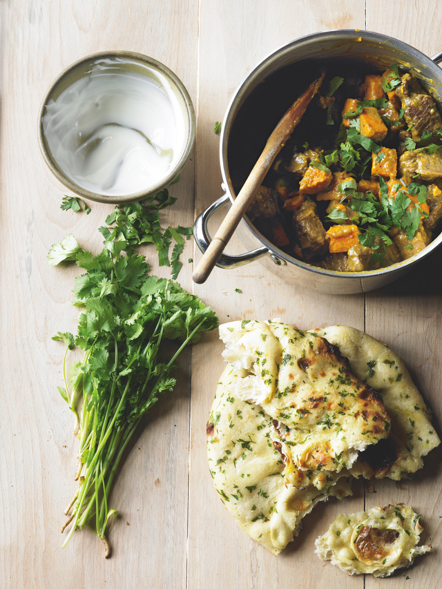 Lamb and sweet potato curry