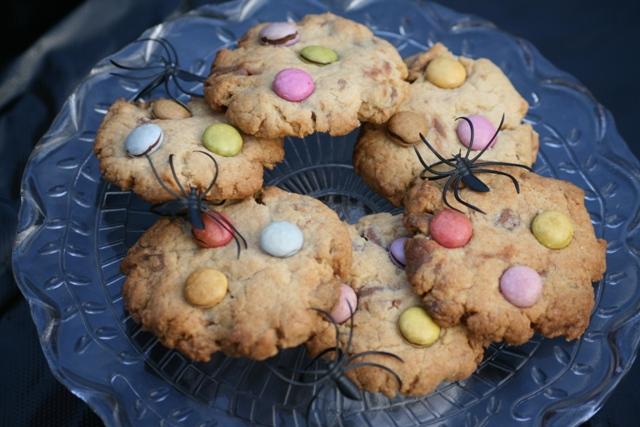 Spooky Smarties cookies
