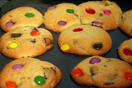 Chocolate chip Smarties cookies