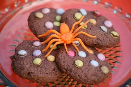Chocolate Smarties cookies