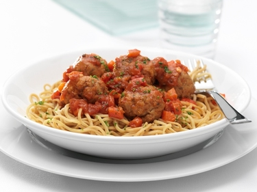 Fish balls with tomato sauce