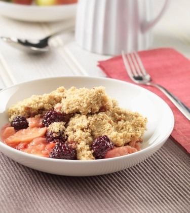 Flora Buttery fruity crumble