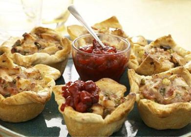 Turkey, bacon and cranberry shortcrust pie