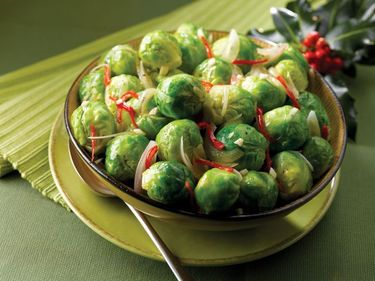 Brussels sprouts with chilli and lemon