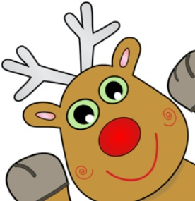 Pin the tail on Rudolph