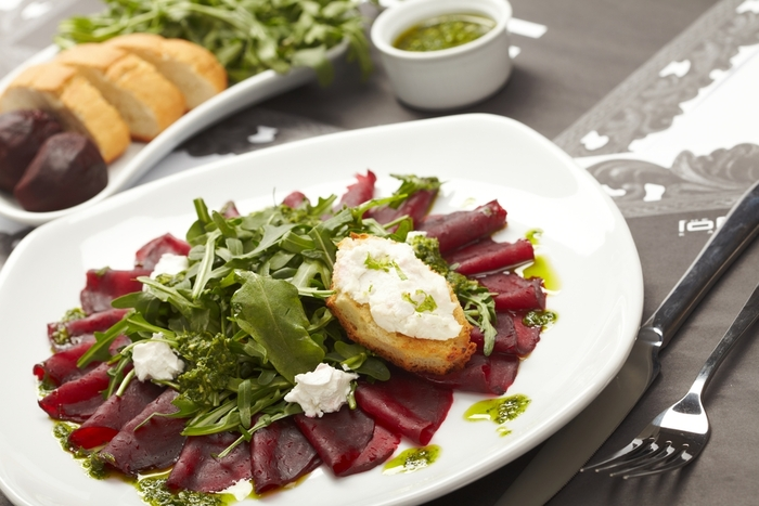 Beetroot with green salsa