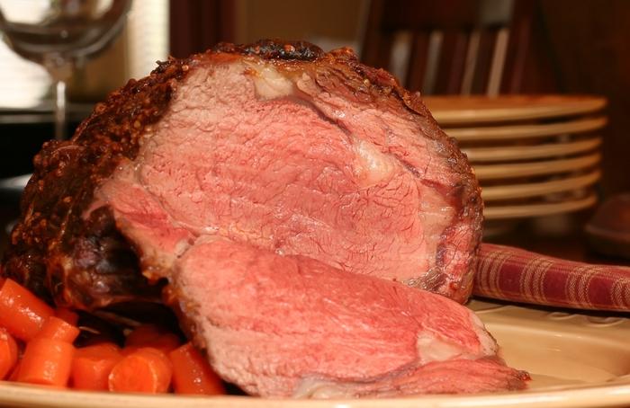 Prime rib with horseradish dijon crust