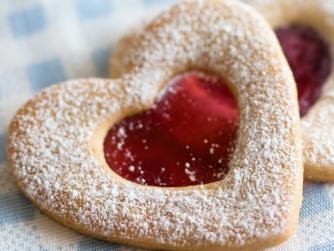 Raspberry jam hearts