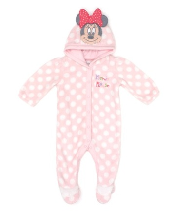 Minnie Mouse Girls Pink Character Romper