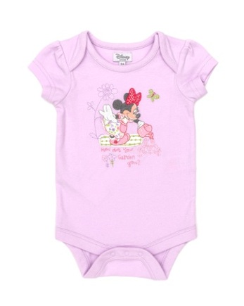 Minnie Mouse Girls Pink Single Body