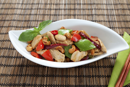 Chicken, cashew and noodle stir fry