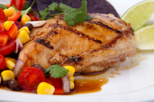Mojito chicken with lime salsa
