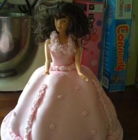 Barbie princess birthday cake