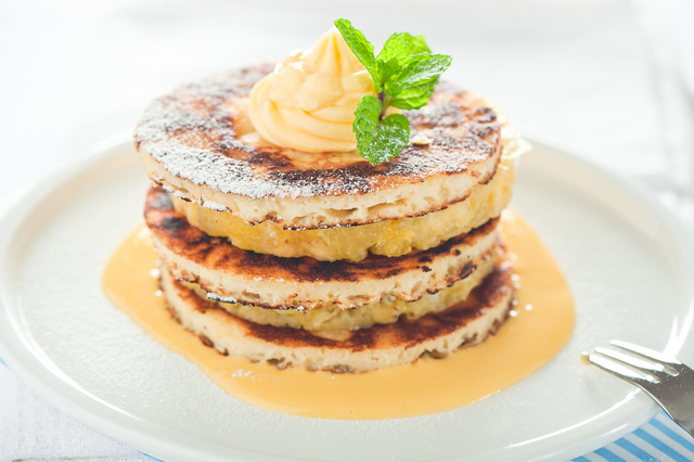 Pineapple and coconut pancakes