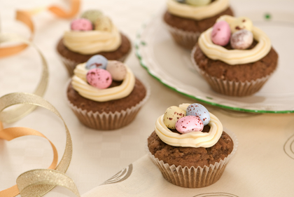 Coffee Easter cupcakes