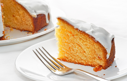 Easter orange cake with lemon icing