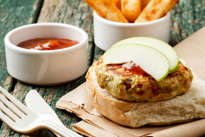 Apple and turkey burgers