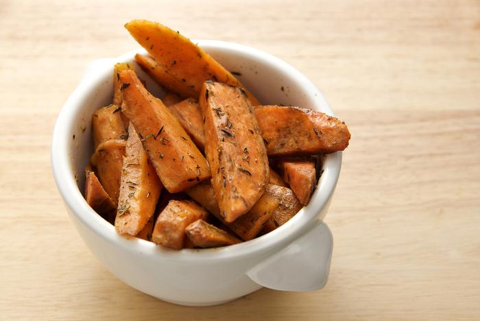 Harissa sweet potato wedges
