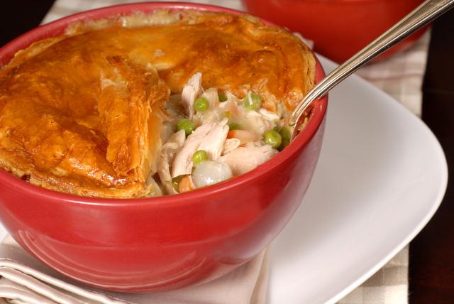 Chicken and leek pot pie