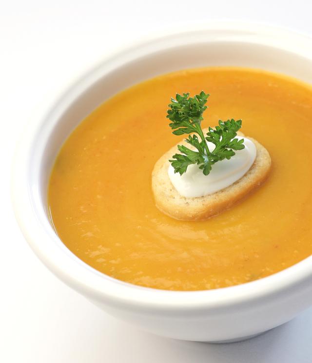 Parmesan and butternut squash soup