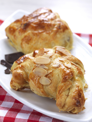 Cheats chocolate and almond croissants