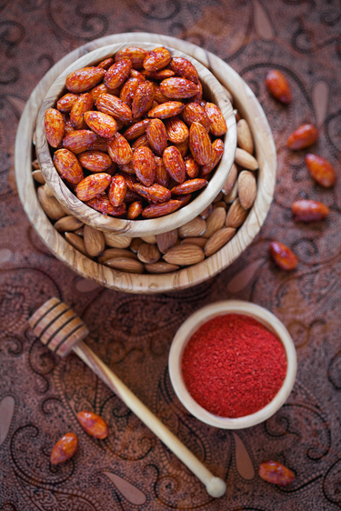 Spiced glazed almonds