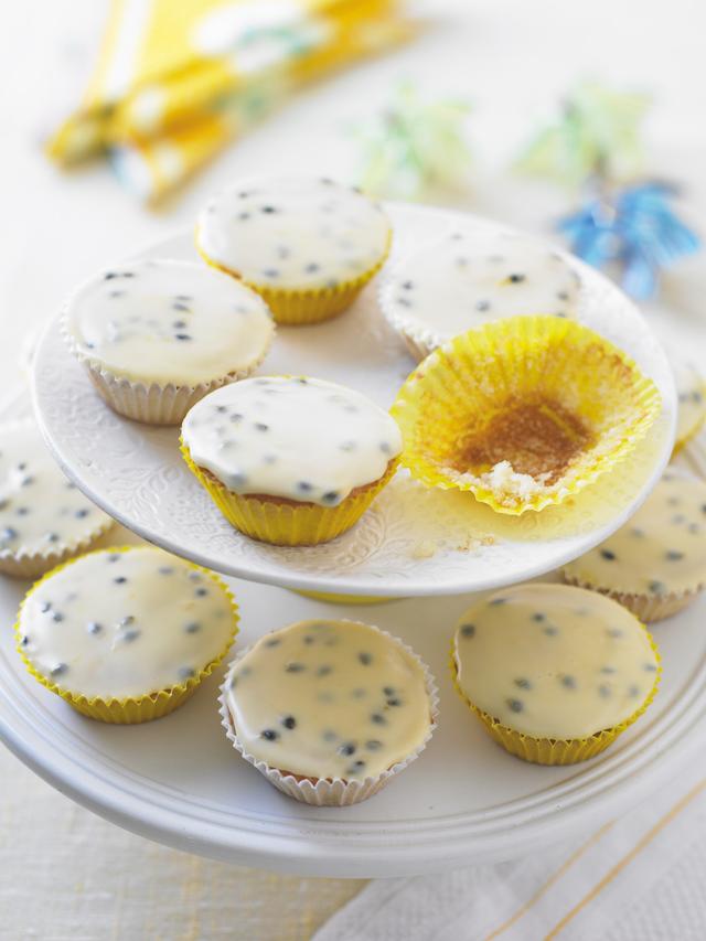 Passion fruit fairy cakes