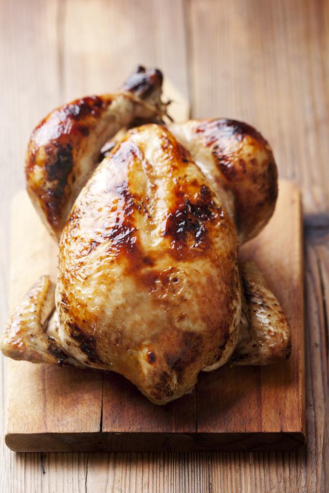Sticky lime roast chicken