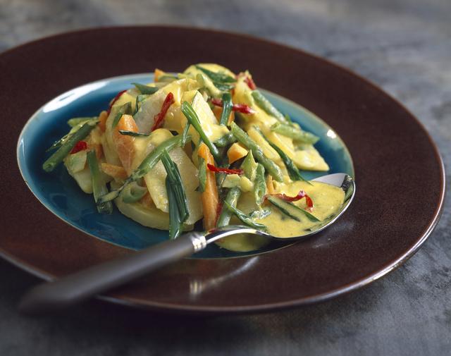 Thai green vegetable curry