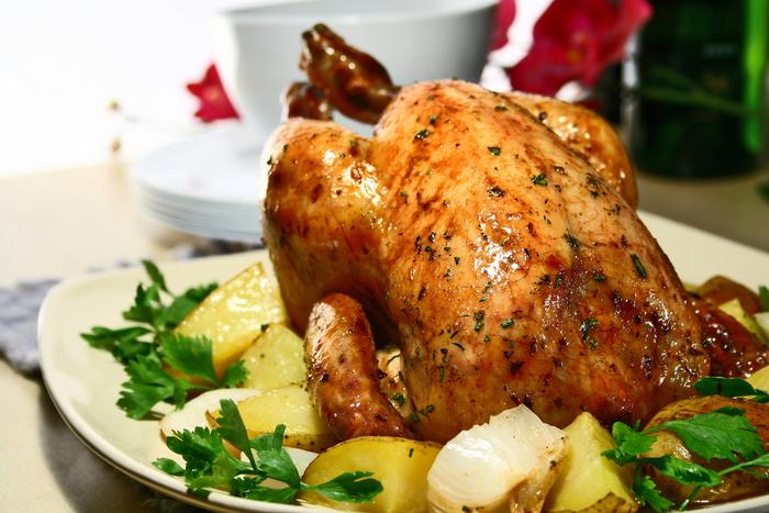 Foolproof slow roast chicken