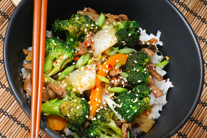 Stir-fried beef with hoisin sauce