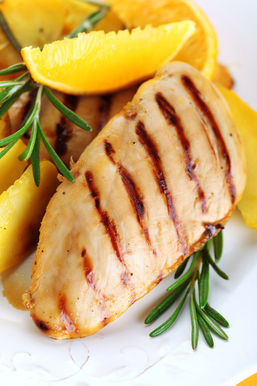 Chicken in balsamic, orange and rosemary sauce