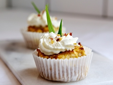 Cathedral City mature butternut squash and chilli cupcakes