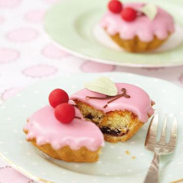 Morello cherry bakewell tarts