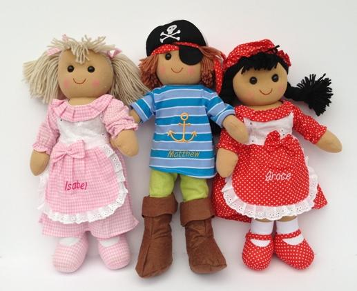 Personalised Rag Dolls £15