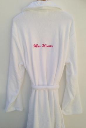 Ladies personalised dressing gown £30
