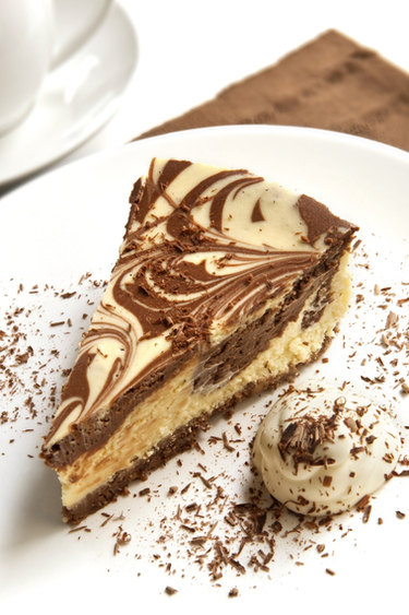 Chocolate marbled cheesecake