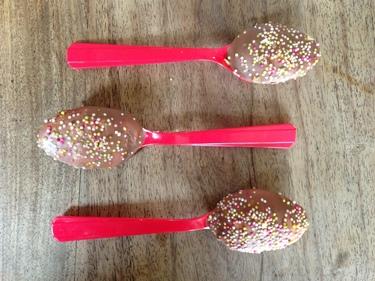 Marshmallow spoons