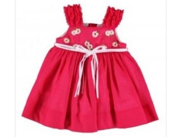 Mayoral Toddler Girls Fuchsia Pink Embroidered Dress