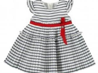 Mayoral Toddler Girls Navy and White Striped Dress