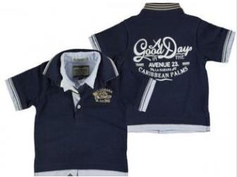 Mayoral Toddler Boys Navy and Blue Chambray Polo