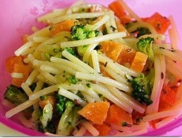Quick cumin spaghetti (V) — stage 3