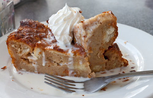 Bread and peanut butter pudding