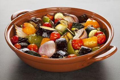 Roasted rosemary vegetables