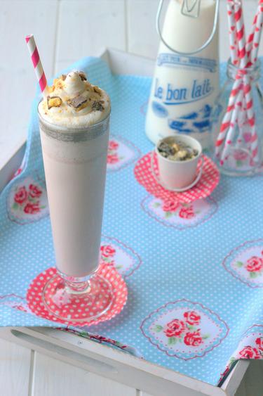 Chocolate honeycomb milkshake