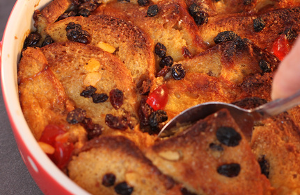 Luxury bread and butter pudding