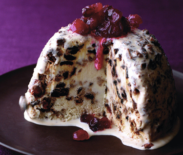 Christmas cake ice cream