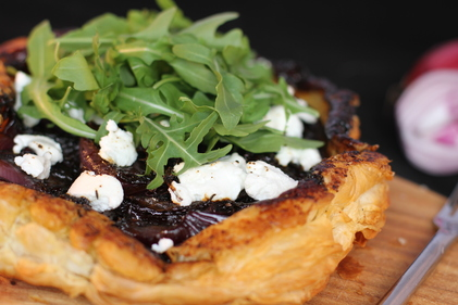 Caramelised onion and goats cheese tarte tatin