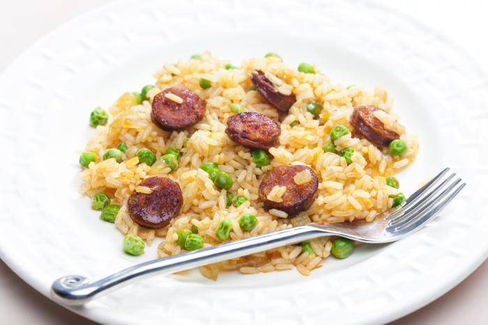 Fried rice with chorizo